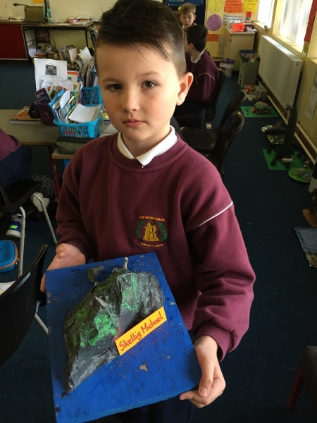 Scoil Naomh Cualán History projects by fourth class